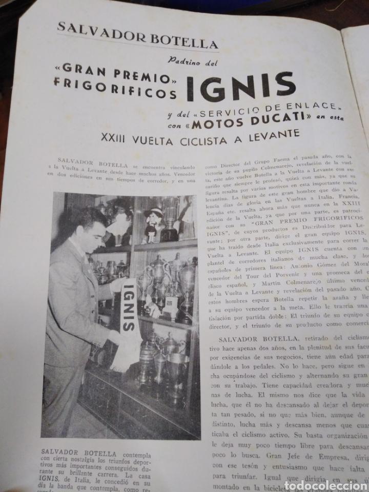 Libros: 23 VUELTA CICLISTA A LEVANTE-HOMENAJE DON VICENTE FERRI VILA(CICLISMO VALENCIANO)1964,ILUSTRADO - Foto 8 - 218503198