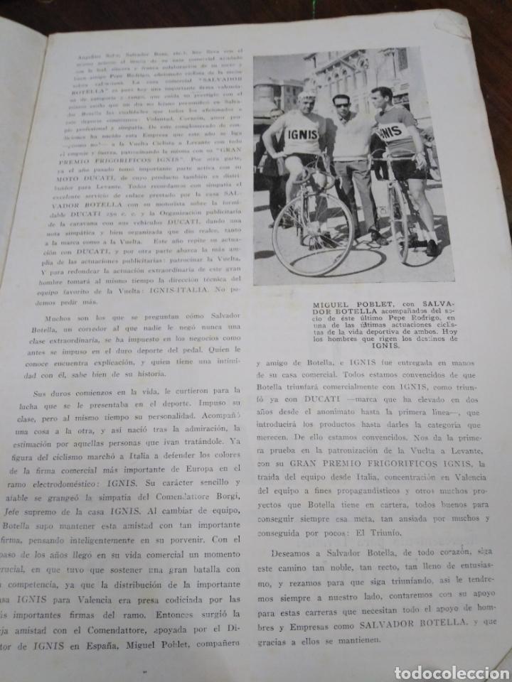 Libros: 23 VUELTA CICLISTA A LEVANTE-HOMENAJE DON VICENTE FERRI VILA(CICLISMO VALENCIANO)1964,ILUSTRADO - Foto 9 - 218503198