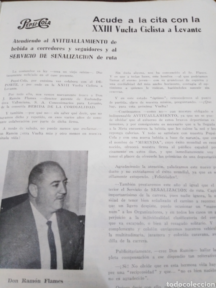 Libros: 23 VUELTA CICLISTA A LEVANTE-HOMENAJE DON VICENTE FERRI VILA(CICLISMO VALENCIANO)1964,ILUSTRADO - Foto 11 - 218503198