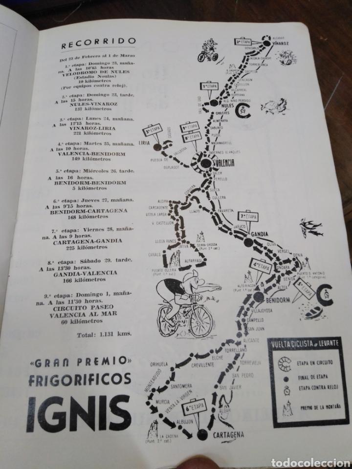 Libros: 23 VUELTA CICLISTA A LEVANTE-HOMENAJE DON VICENTE FERRI VILA(CICLISMO VALENCIANO)1964,ILUSTRADO - Foto 13 - 218503198