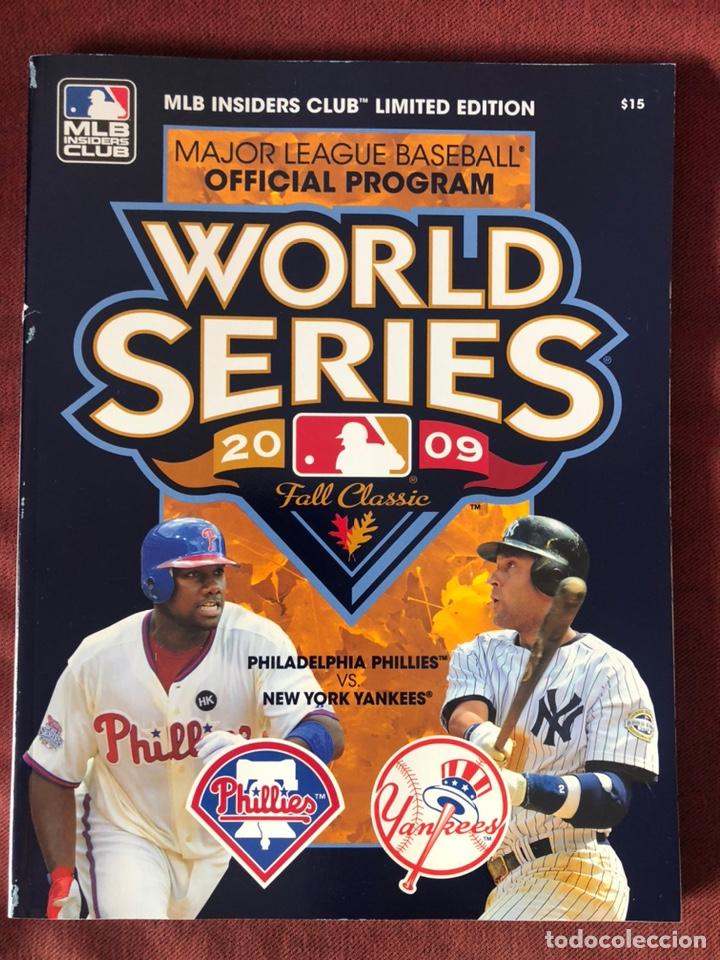 2009 OFFICIAL MLB WORLD SERIES PROGRAM MLB INSIDERS CLUB LIMITED EDITION (Libros Nuevos - Ocio - Deportes y Juegos)
