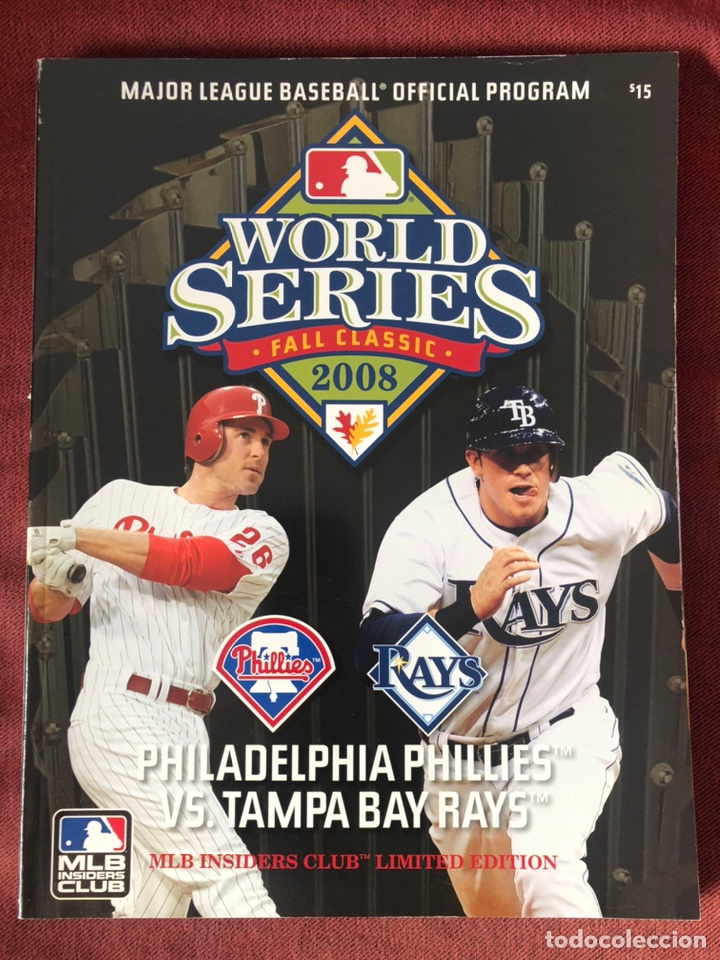 Libros: 2008 Official MLB World Series Program MLB Insiders Club Limited Edition. - Foto 1 - 220662932