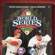 Libros: 2008 OFFICIAL MLB WORLD SERIES PROGRAM MLB INSIDERS CLUB LIMITED EDITION.. Lote 220662932