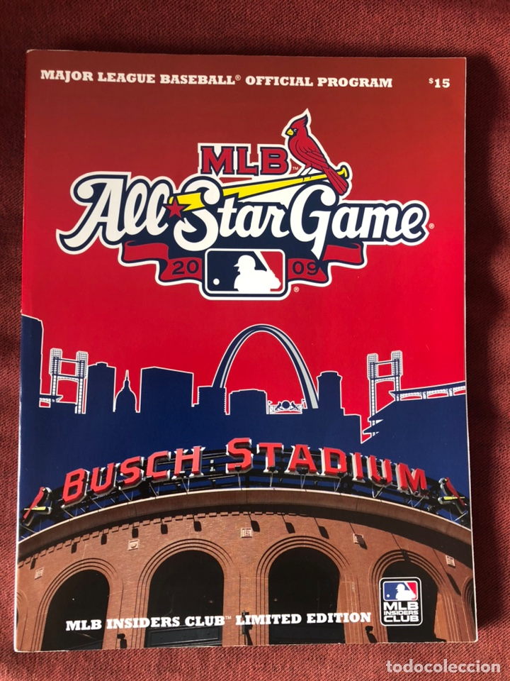 2009 OFFICIAL MLB ALL STAR GAME PROGRAM MLB INSIDERS CLUB LIMITED EDITION (Libros Nuevos - Ocio - Deportes y Juegos)