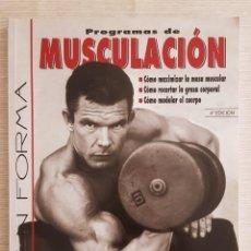 Libros: PROGRAMAS DE MUSCULACIÓN - NICK EVANS, M D. Lote 222444228