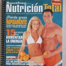 Libros: CUADERNO NUTRICIÓN TOTAL - MUSCLE FITNESS. Lote 222899747