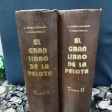 Libros: EL GRAN LIBRO DE LA PELOTA , 2 TOMOS. Lote 225495837