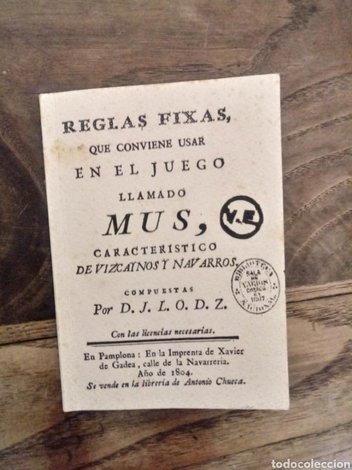 REGLAS.FIXAS DEL JUEGO MUS (Libros Nuevos - Ocio - Deportes y Juegos)