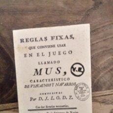 Libros: REGLAS.FIXAS DEL JUEGO MUS. Lote 228564165
