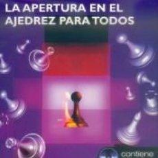 Libros: APERTURA EN EL AJEDREZ PARA TODOS, LA (LIBRO+CD).. Lote 233632835