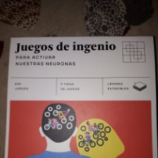 Libros: LIBRO. JUEGOS DE INGENIO PARA ACTIVAR NUESTRAS NEURONAS. EDITORIAL ALMA. 252 PAGINAS. Lote 233885790