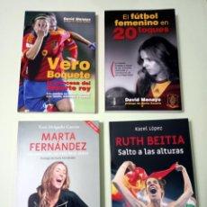 Libros: 4 LIBROS SOBRE DEPORTE FEMENINO: FÚTBOL, BALONCESTO, ATLETISMO. Lote 243883660