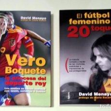 Libros: 2 LIBROS SOBRE FÚTBOL FEMENINO. Lote 243890110