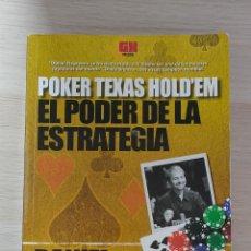 Libros: EL PODER DE LA ESTRATEGIA. POKER TEXAS HOLD'EM. DANIEL NEGREANU. Lote 244702440