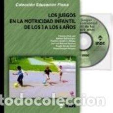 Libros: LOS JUEGOS EN LA MOTRICIDAD INFANTIL DE LOS 3 A LOS 6 AÑOS (LIBRO + CD). Lote 245396510