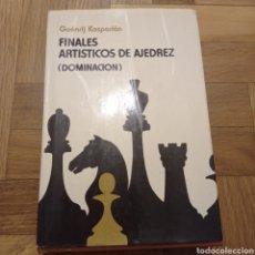 Libros: FINALES ARTÍSTICOS DE AJEDREZ (DOMINACIÓN). G. KASPARIÁN. Lote 246355320