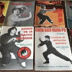 Libros: LOTE DE 13 REVISTAS CUADERNOS TÉCNICOS KUNG-FU + 7 LIBROS Y REVISTAS SOBRE BRUCE LEE Y UN CÓMIC.. Lote 254942675