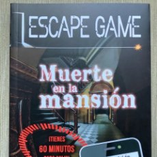 Libros: LIBRO MUERTE EN LA MANSIÓN ESCAPE GAME. ESCAPE ROOM.. Lote 262263360