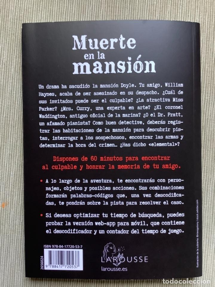 Libros: Libro Muerte en la Mansión Escape Game. escape Room. - Foto 4 - 262263360