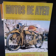 Libros: MOTOS DE AYER REVISTA 6 PRIMEROS EJEMPLARES IMPECABLES. Lote 267615794