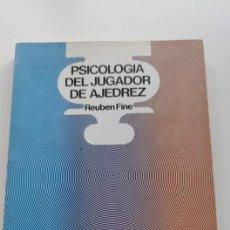 Libros: LIBRO PSICOLOGÍA DEL JUGADOR DEL AJEDREZ. Lote 269701553