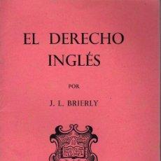 Libros: EL DERECHO INGLÉS - OXFORD UNIVERSITY PRESS 1943. Lote 24304404