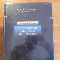Libros: INTRODUCCION A LA TEORIA DEL DERECHO. INMANUEL KANT. 1997 160 PAG. Lote 47954979