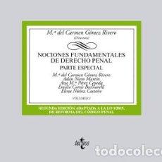 Libros: NOCIONES FUNDAMENTALES DE DERECHO PENAL: VOLUMEN I. PARTE ESPECIAL EDITORIAL TECNOS. Lote 70869691