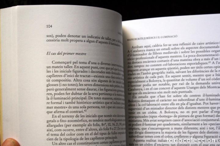 Libros: MANUSCRITS JURIDICS I IL.LUMINACIO - 1300 - 1350 - GASPAR COLL I ROSELL - Catalunya - - Foto 2 - 78780273