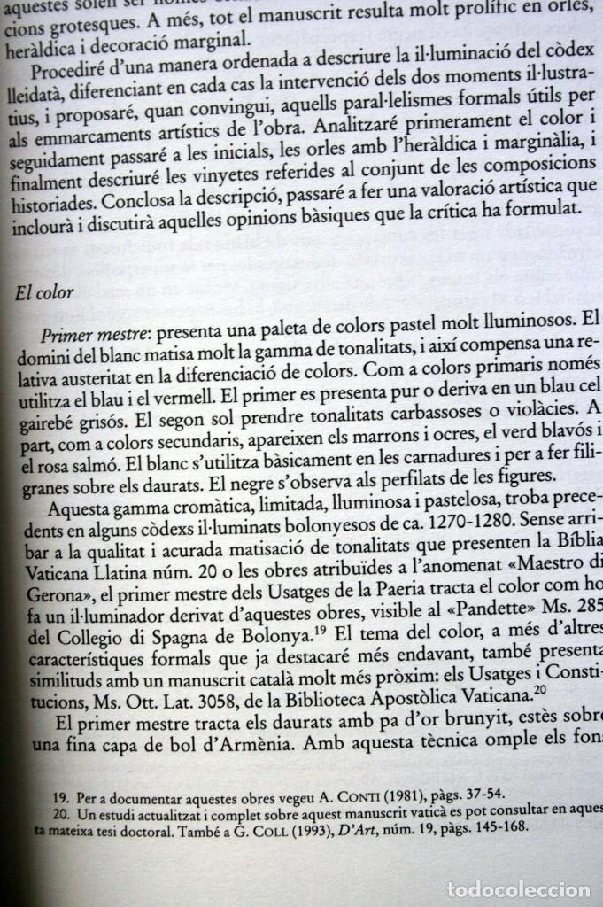 Libros: MANUSCRITS JURIDICS I IL.LUMINACIO - 1300 - 1350 - GASPAR COLL I ROSELL - Catalunya - - Foto 3 - 78780273