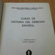 Libros: CURSO DE HISTÓRIA DEL DERECHO . Lote 81166302