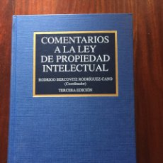 Libros: COMENTARIOS A LA LEY DE PROPIEDAD INTELECTUAL. Lote 98149163