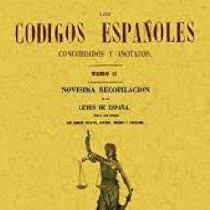 Libros: T9. LOS CÓDIGOS ESPAÑOLES, CONCORDADOS Y ANOTADOS.. Lote 58038433
