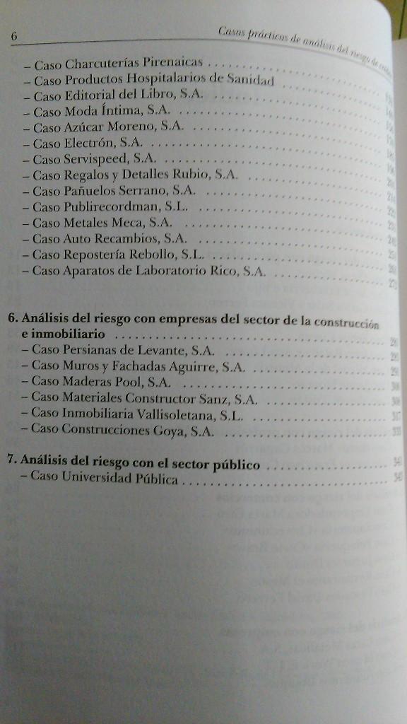 Libros: Casos prácticos de Análisis del Riesgo de Crédito. (NUEVO) 2002. JAIME TOMÁS, ORIOL AMAT - Foto 4 - 47952794
