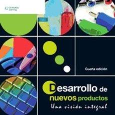 Libros: DESARROLLO DE NUEVOS PRODUCTOS: UNA VISIÓN INTEGRAL. Lote 109436135