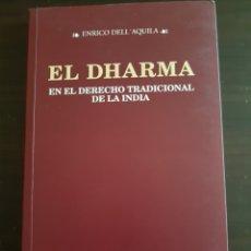 Libros: EL DHARMA EN EL DERECHO TRADICIONAL DE LA INDIA. Lote 111026624
