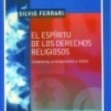 Libros: EL ESPÍRITU DE LOS DERECHOS RELIGIOSOS. Lote 125932683