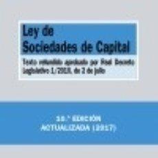 Libros: LEY DE SOCIEDADES DE CAPITAL: TEXTO REFUNDIDO APROBADO POR REAL DECRETO LEGISLATIVO 1/2010, DE 2 DE. Lote 125935092