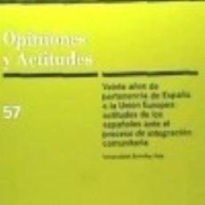 Libros: VEINTE AÑOS DE PERTENENCIA DE ESPAÑA A LA UNIÓN EUROPEA : ACTITUDES DE LOS ESPAÑOLES ANTE EL. Lote 125935318