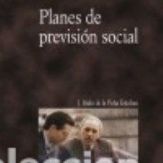 Libros: PLANES DE PREVISIÓN SOCIAL. Lote 103765566