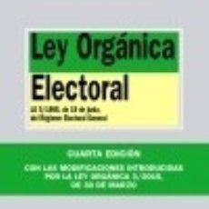 Libros: LEY ORGÁNICA ELECTORAL. Lote 70869783