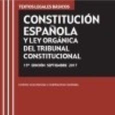 Libros: CONSTITUCIÓN ESPAÑOLA Y LEY ORGÁNICA DEL TRIBUNAL CONSTITUCIONAL. Lote 98171831