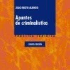 Libros: APUNTES DE CRIMINALÍSTICA. Lote 130359880