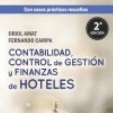 Libros: CONTABILIDAD, CONTROL DE GESTIÓN Y FINANZAS DE HOTELES. Lote 130415406