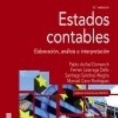 Libros: ESTADOS CONTABLES. Lote 133215743