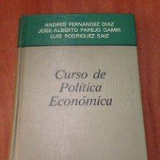 Libros: CURSO DE POLÍTICA ECONÓMICA. Lote 135274510