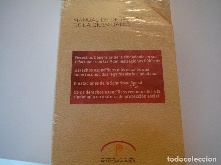 MANUAL DE DERECHOS DE LA CIUDADANIA DEFENSOR DEL PUEBLO CASTILLA LA MANCHA (Libros Nuevos - Ciencias, Manuales y Oficios - Derecho y Economía)