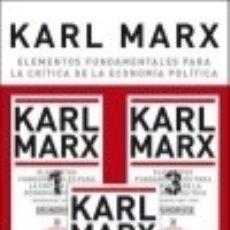 Libros: ELEMENTOS FUNDAMENTALES PARA LA CRÍTICA DE LA ECONOMÍA POLÍTICA (3 VOLS.). Lote 142840892