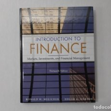 Libros: INTRODUCTION TO FINANCE: MARKETS, INVESTMENTS, AND FINANCIAL MANAGEMENT - RONALD W. MELICHER, EDGAR. Lote 143237014