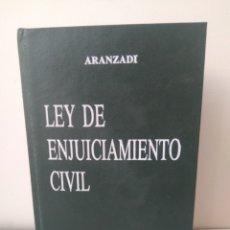 Libros: LIBRO DE AÑOS 1984 LEY SE ENJUICIAMIENTO CIVIL-COLECCION LEX-ARANZADI. Lote 151621118